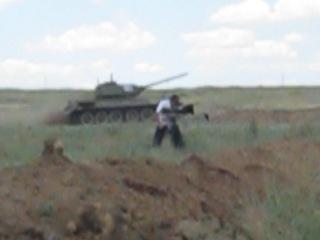 """Т-34 на реконсе """"НА ПОДСТУПАХ К СТАЛИНГРАДУ в 1942 """"  20.07.2013"""